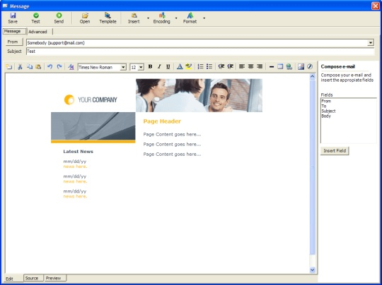 Email Autoresponder - HTML Editor