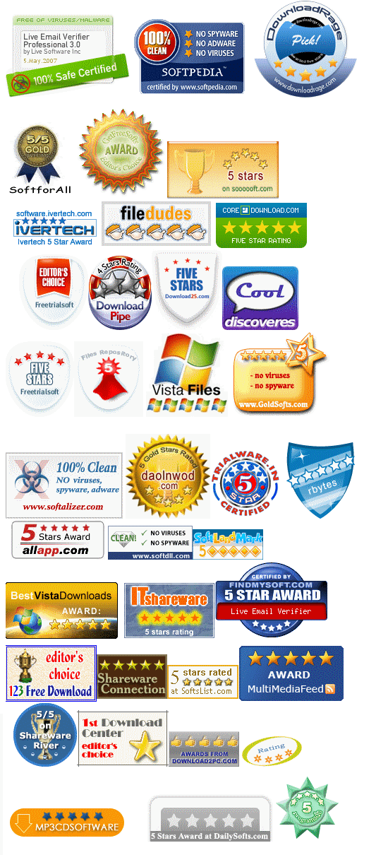 All Email Verifier Awards