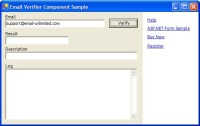Email Validation Component - Windows Application Sample